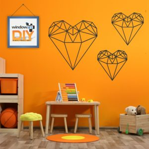 DIY_GW7 (Polygon Heart) Black