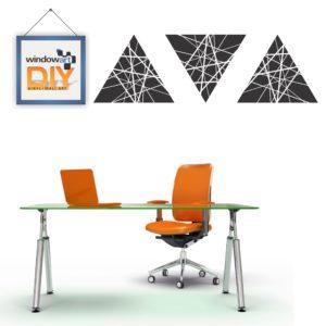 DIY_WC13 (Crossed Line Triangles) Black