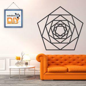 DIY_WD5 (Geometric Polygon 1) Black