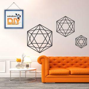 DIY_WD6 (Geometric Polygon 2) Black