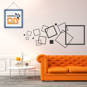 DIY_WD8 (Intersected Squares) Black