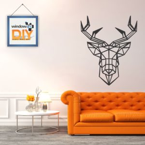 DIY_WN15 (Polygon Deer) Black